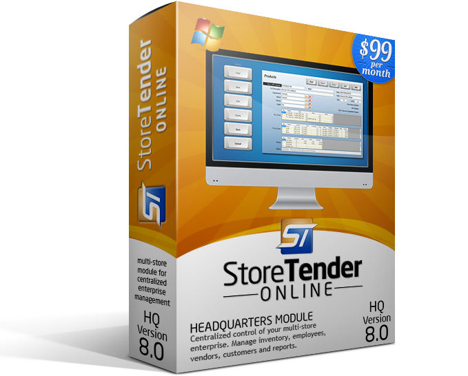 StoreTender Online HQ (exemplar image only - software is downloaded)